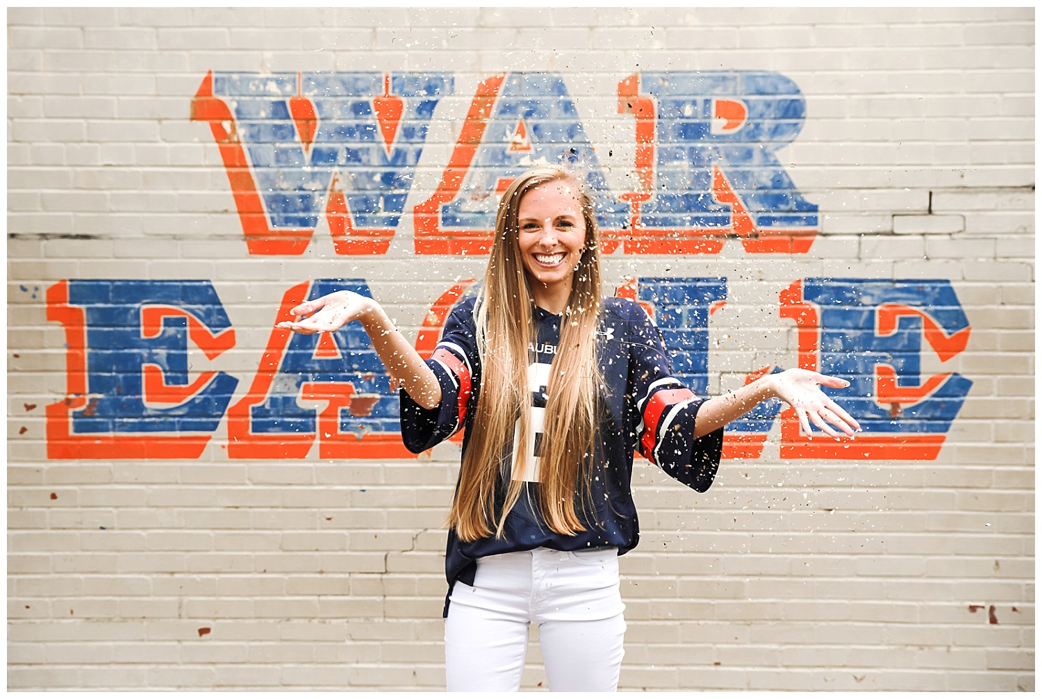 war eagle wall confetti auburn university graduation photos lbeesleyphoto