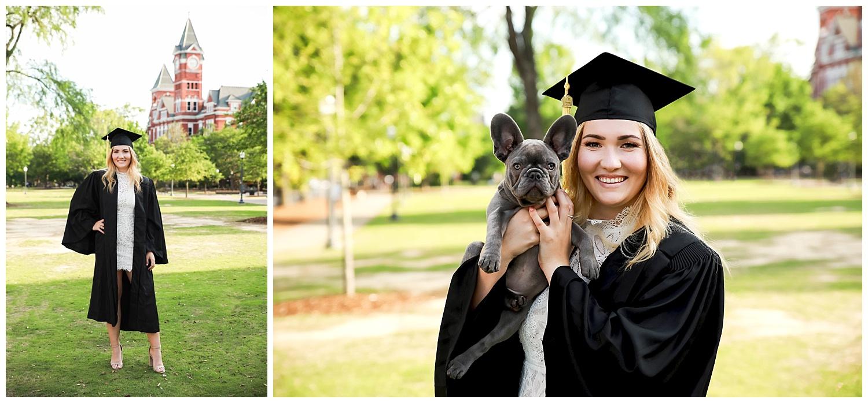 auburn university graduation photos with dog lbeesleyphoto