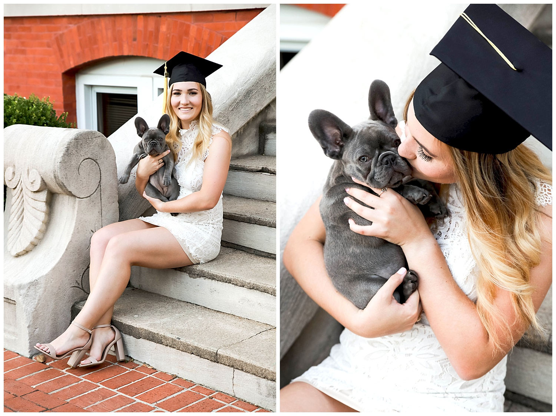 auburn university graduation photos with dog graduation photographer lauren beesley
