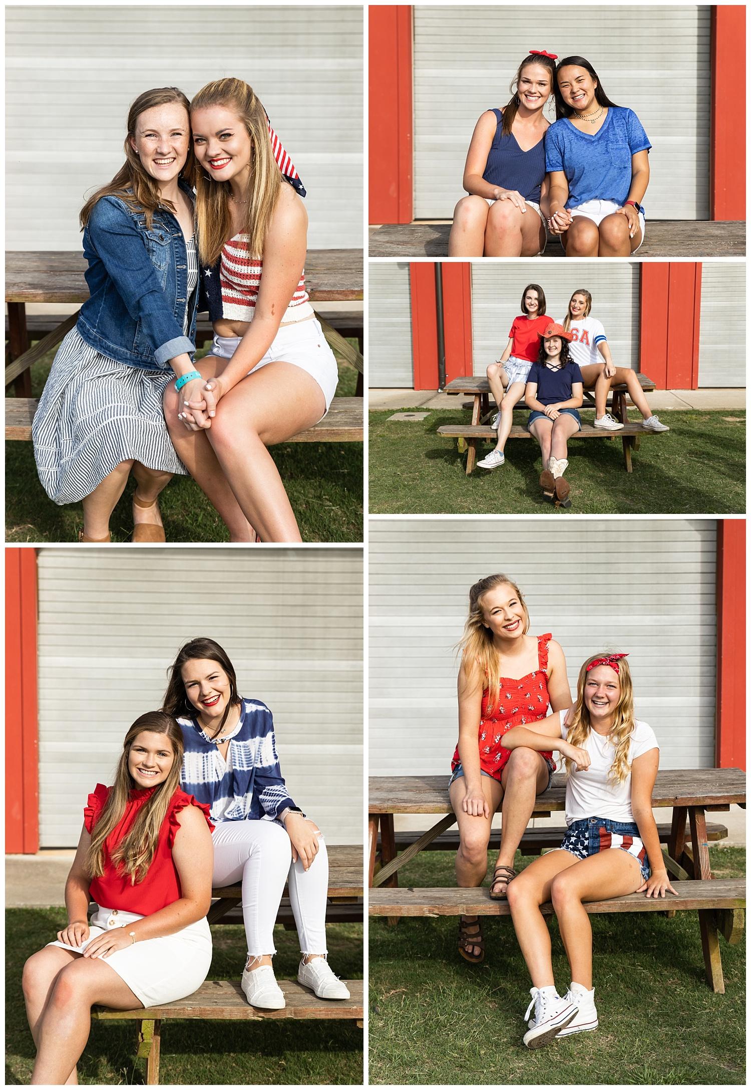 senior rep photo shoot red white and blue auburn alabama