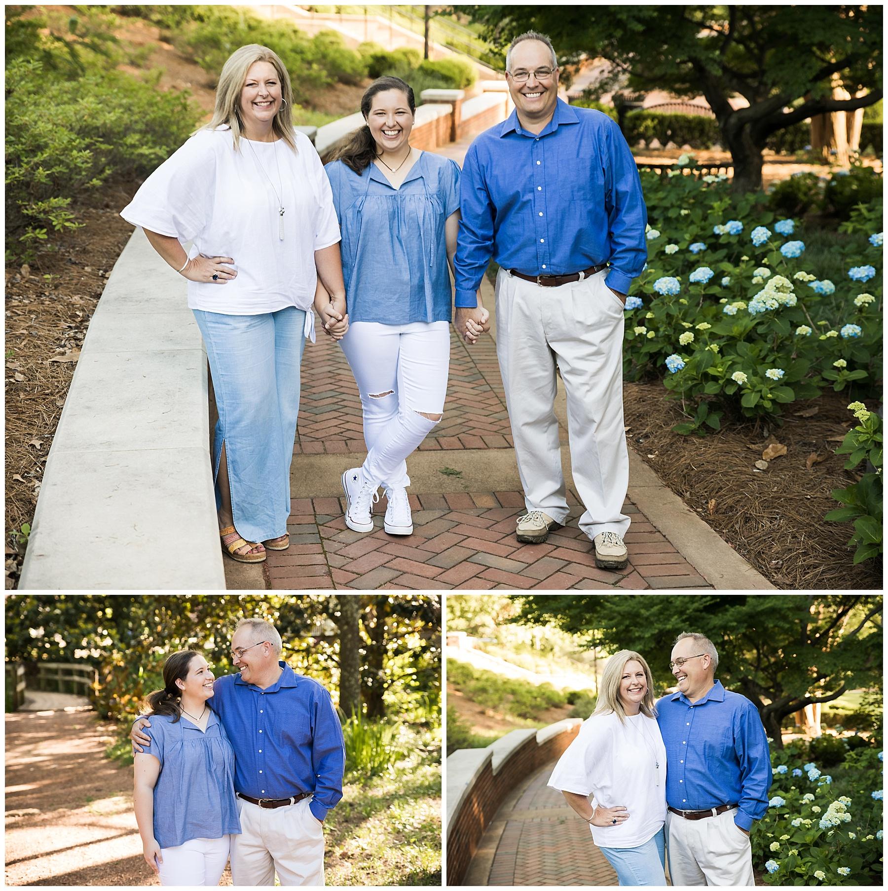 family portrait photographer auburn alabama arboretum