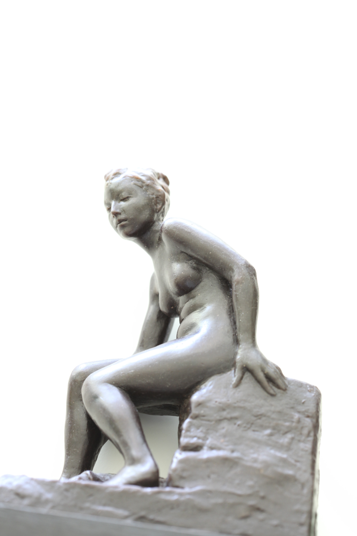 Maquette for a decorative figure sculpture.