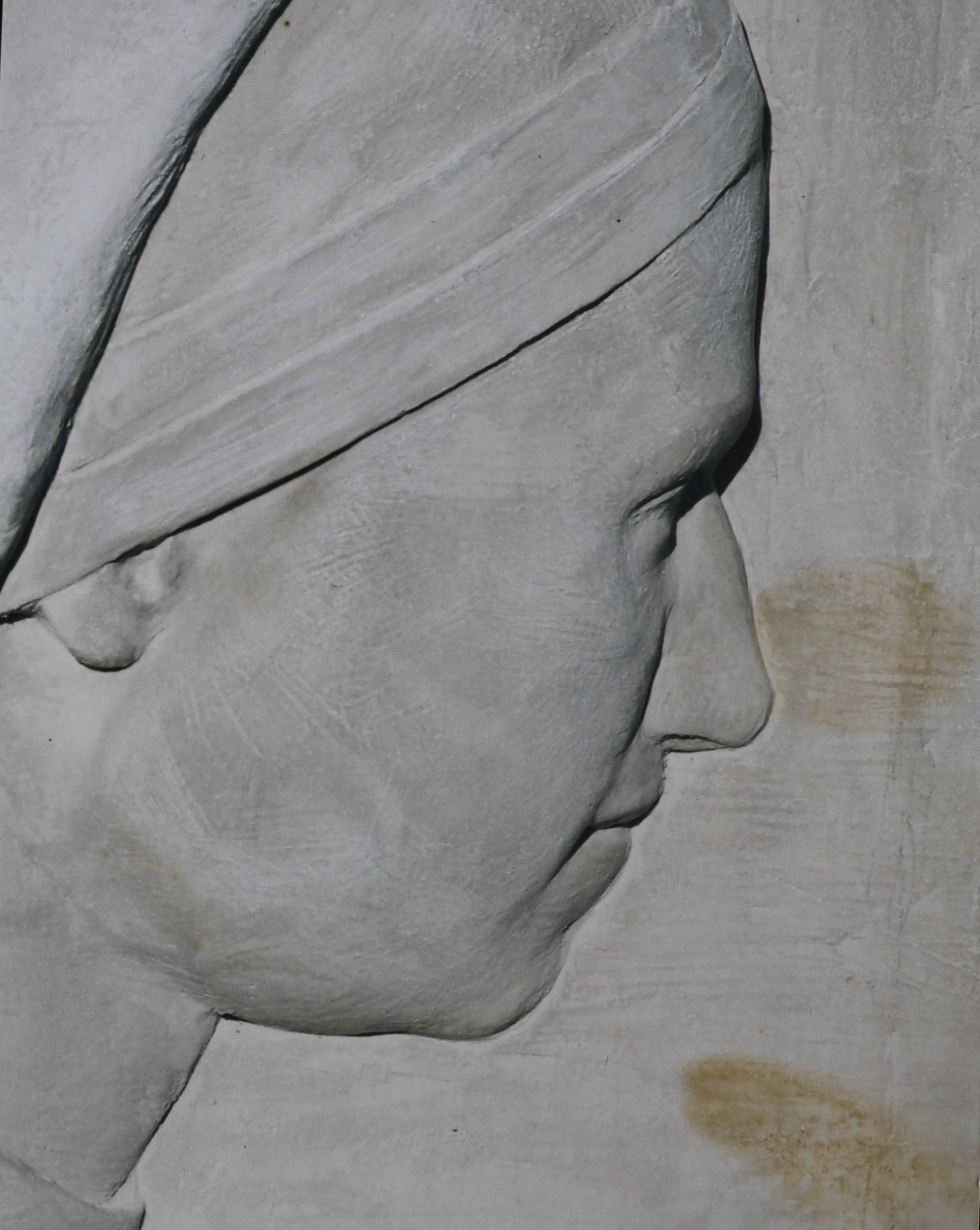 "Detail from ""Nuns in Gaza""   hydrostone."