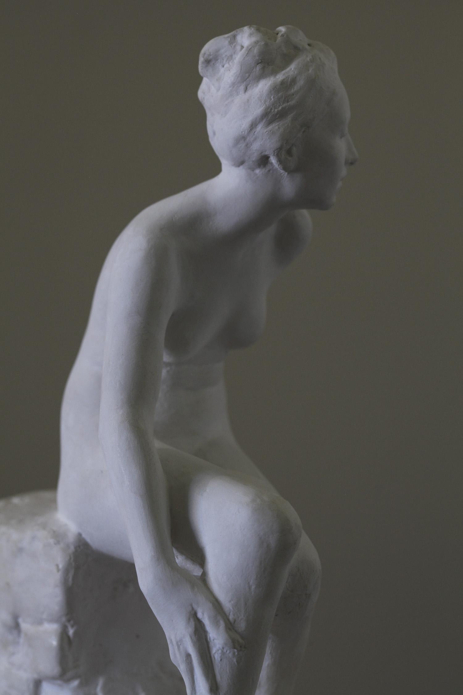 Small figure study, ~1/6, plaster