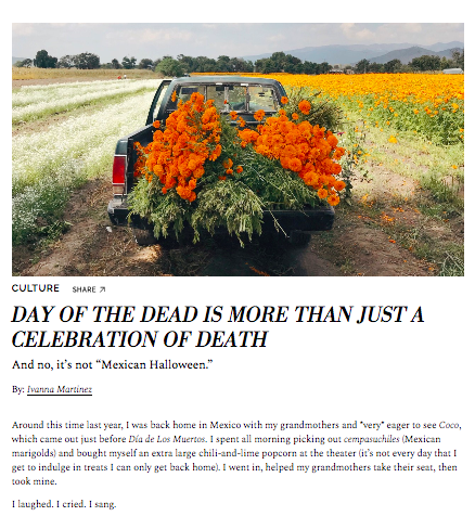 Day Of The Dead Article, 2018