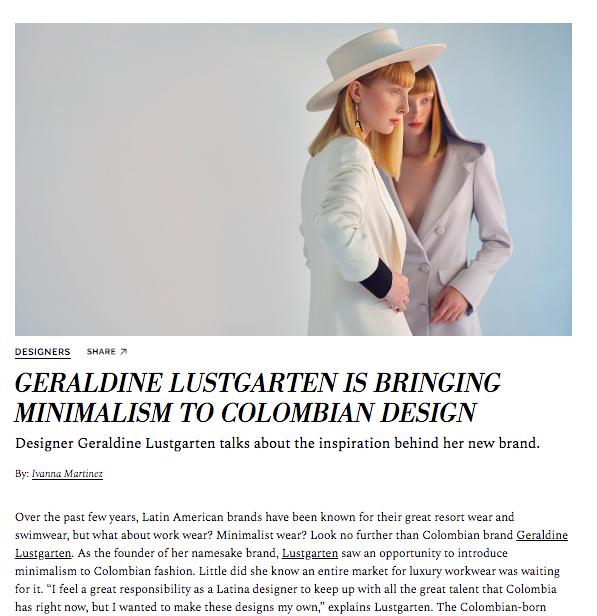 Colombian Designer Geraldine Lustgarten Interview, 2019