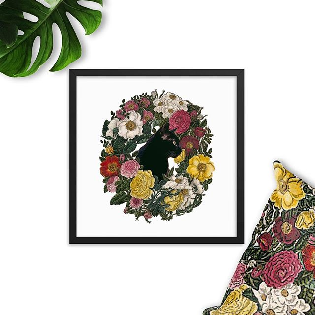 This Rosie Cat Print Framed Poster is now available in our Etsy shop LivingFiveElements.  #cat #roses #flowers #blackcat #botanicalprint #botanicalillustration #bohostyle #witchy #witchywoman #witchythings #livingfiveelements #witchywomanapparel #plantmedicine #plantmagic #plantpower #gardening #magic #tshirt #witchesofinstagram #vintagestyle #cats #catdecor #catlady #homedecor #livingroomdecor #flowerdecor #etsyshop #etsy #etsyseller