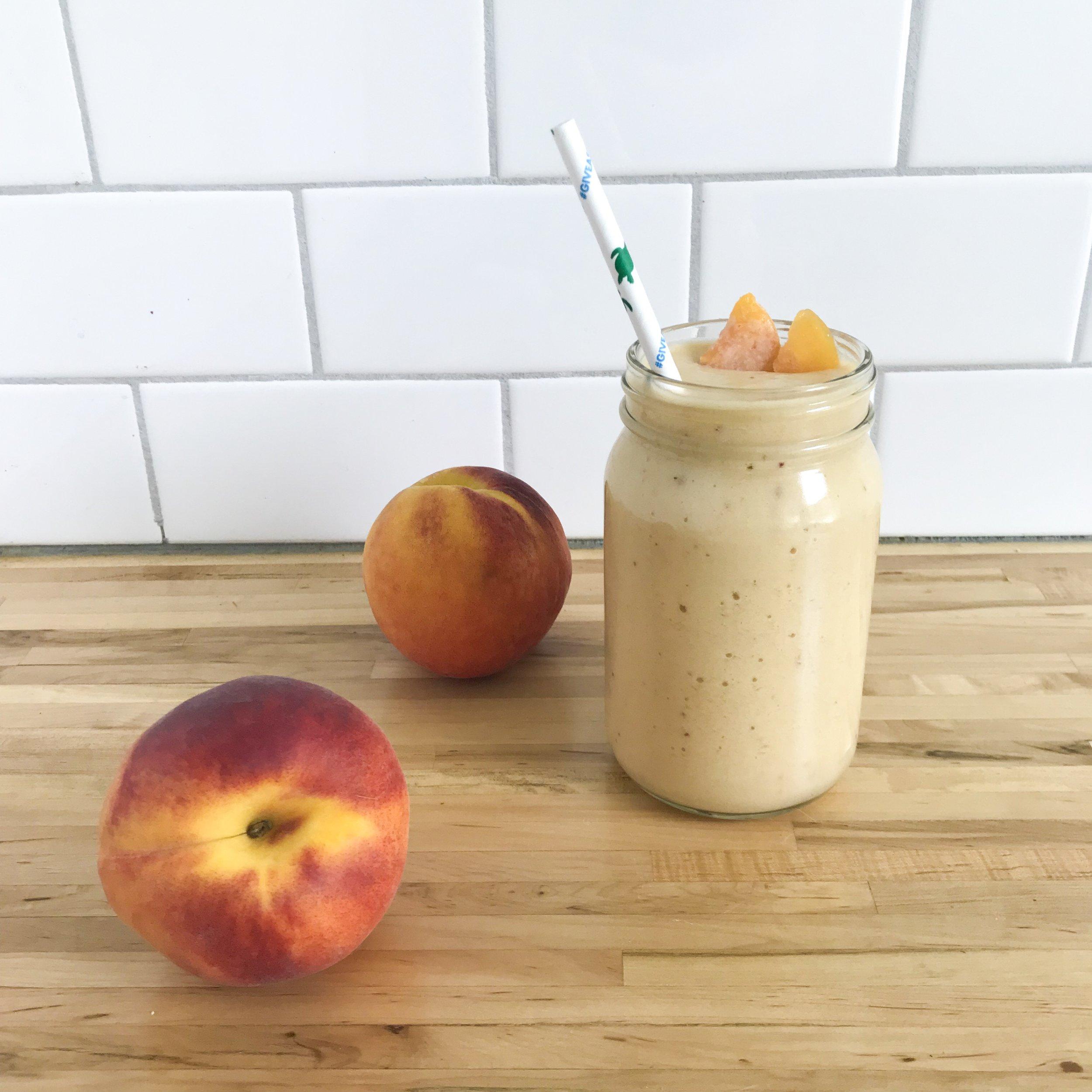 Peach and Cauliflower Smoothie