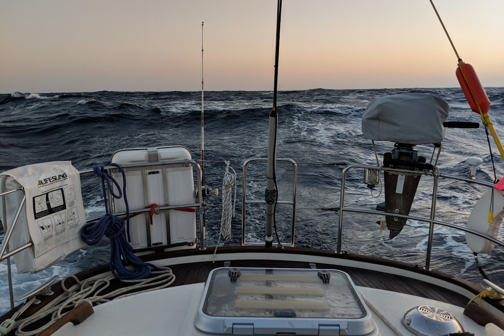 Con ola de popa entre Gibraltar e Islas Canarias