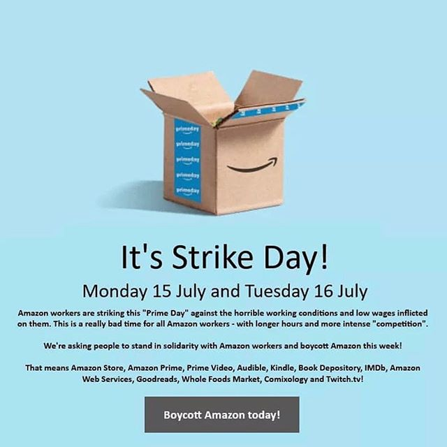Never cross a picket line. #amazonstrike