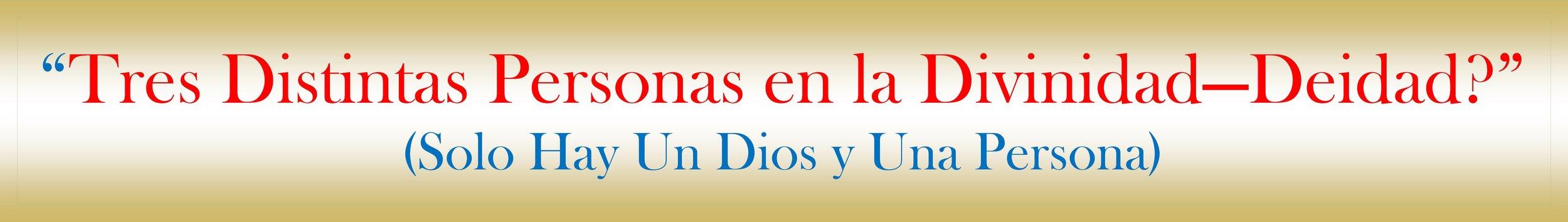 """Tres Distintas Personas en la Divinidad O Deidad? En ninguna parte de las Santas Escrituras, Dios y El Espíritu Santo nunca son llamados o reconocidos como """"Persona"""" o por lo menos se le allá dado este término.  Los Trinitarios usan el Término, """"Persona"""" en la Divinidad. Ellos Afirman que Dios Padre es la primera Persona de la Trinidad, que Jesús el hijo es la Segunda persona de la Trinidad y que el Espíritu Santo es la tercera persona de la Trinidad.  Cuando se dice esto de la Divinidad de Dios se está cometiendo un Gran Error Doctrinal, pues a ninguno de ellos se les da un Segundo Lugar o tercer lugar, pues en las Santas Escrituras se dice que Jesús es el primero y si él es el primero no puede ser el Segundo.  La Biblia No enseña términos de """"Personas"""" en la Divinidad o en Dios, tampoco hace mención de Tres distintos Dioses """"Dios Padre, Dios Hijo y Dios Espíritu"""" para llegar a ser un solo Dios verdadero, pues eso fue una invención del Catolicismo Romano como dice el Credo Atanasio o El Credo Trinitario en el Concilio de Nicea en el Año 325 d.C.  Es tan importante notar que en este Credo la Iglesia Católica Romana Si declaran que hay Tres Dioses en la Divinidad, como también hay tres señores, pero en el Credo mismo se dice la siguiente frase: """" Así la Iglesia Católica nos Prohíbe decir Tres dioses o Tres señores """". En verdad esto es asi porque ellos mencionan a Tres Dioses, pero a la misma vez tratan de tapar esta verdad con decir que es un solo Dios o un Solo Señor.  En el Credo Católico, este hombre llamado (Atanasio), se dedicó a defender, No la Biblia o La Fe Cristiana, sino a la Fe Católica Romana. En toda la Biblia No hay Tres distintas personas en la Divinidad, tampoco en Los Diccionarios o Concordancias. La única persona en la Divinidad que se menciona en la Biblia es (Jesús el Hijo de Dios). Quien era Dios mismo manifestado en Carne, para poder hacer así el sacrificio perfecto por nuestros pecados.  Esta expresión o terminología de """"persona"""" solo se les at"""