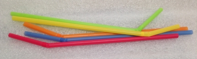"Record Number: 070 Collection Date: 21 Oct 2017  Description: Bendy straws, multi-colored Dimension: 9"" x .25"" each"
