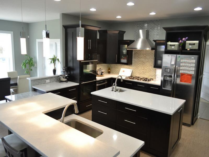 Modern quartz countertop kitchen