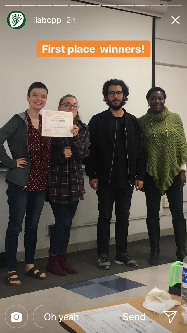 Quants won 1st place at the CPP iLAB Startup Academy