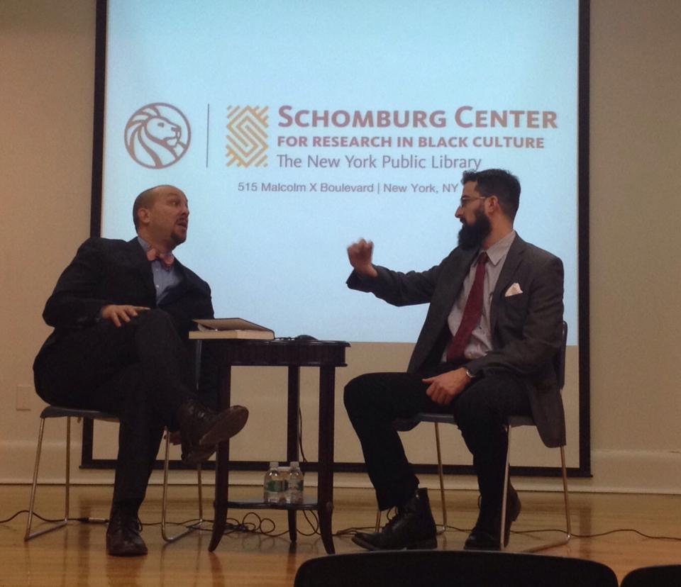 """I was honored to be interviewed on March 8, 2014 by Columbia's Josef Sorett at the historic Schomburg Library in Harlem where I did most of the research for my first book, part of the talk series """"Between the Lines."""""""
