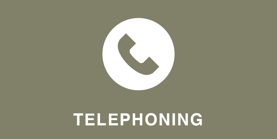 - 電話応対相手の情報を聞き取る / 用件を聞く / 電話の切り方など