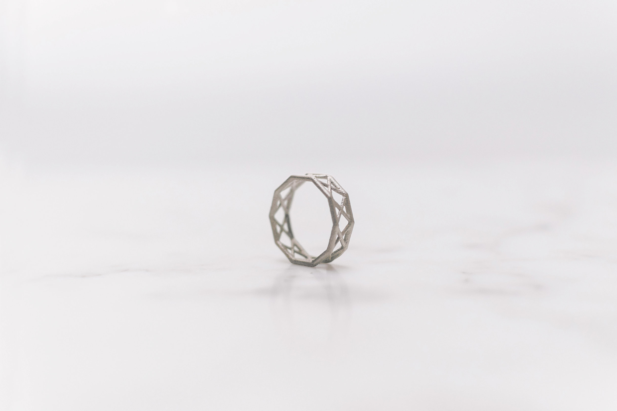 """Warren Warren - .925 Sterling Silver // Without verticals. An uncommon truss configuration, the truss takes the appearance of two Warren truss offset and superimposed on each other, forming a repeating """"X"""" pattern."""