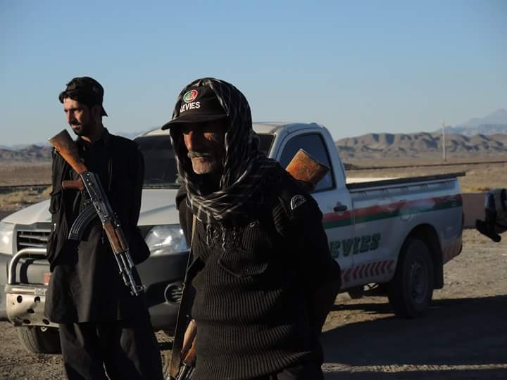 The escorte patrol of the first 150km from the Taftan Border into the desert of Balochistan.