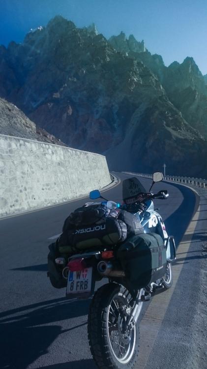 The Passu Cones, view from the Karakorum Highway.