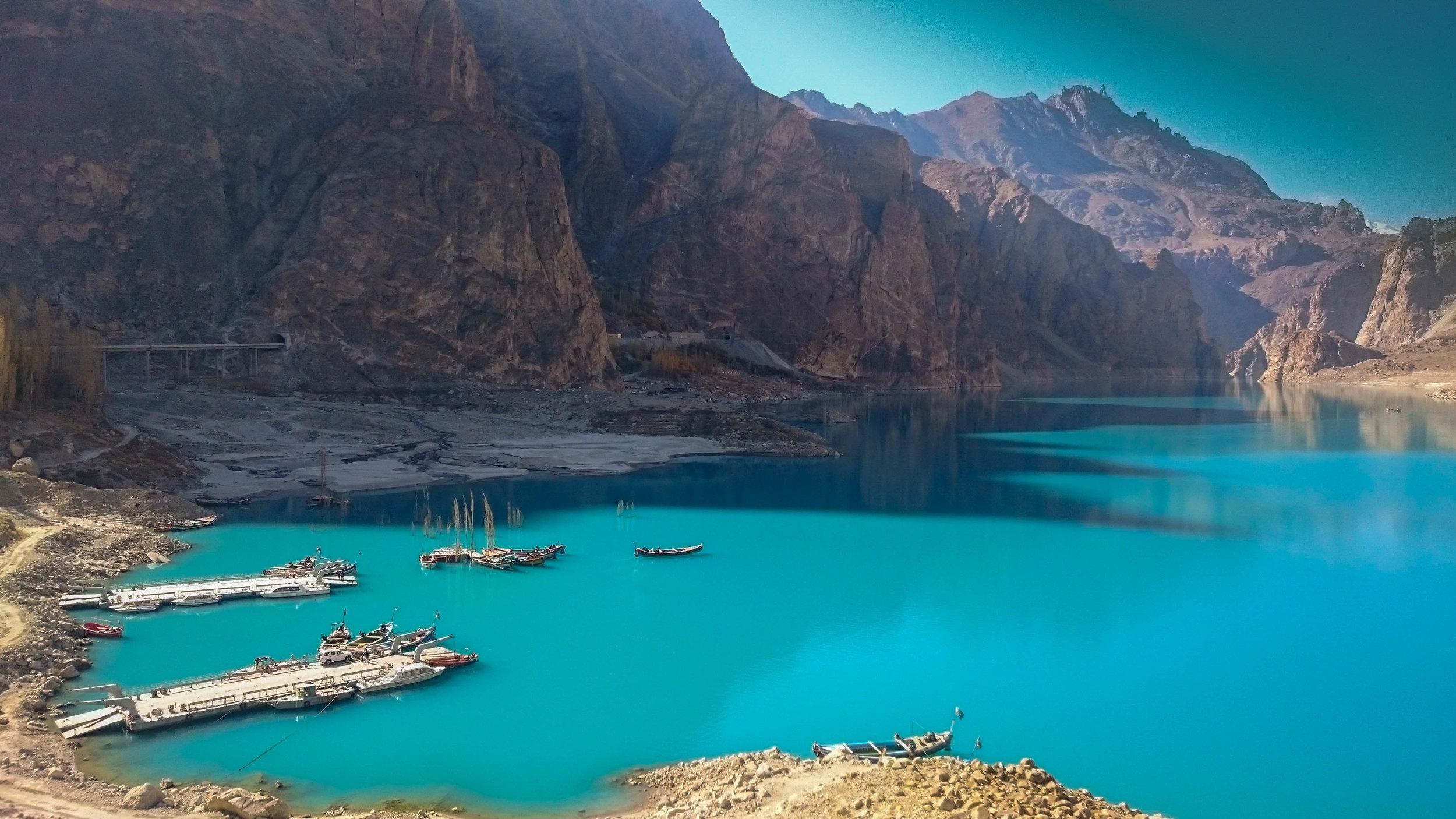 The Attabad Lake.