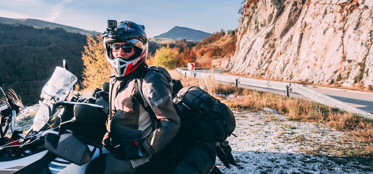 Riding through the mountains of Bosnia Herzegovina