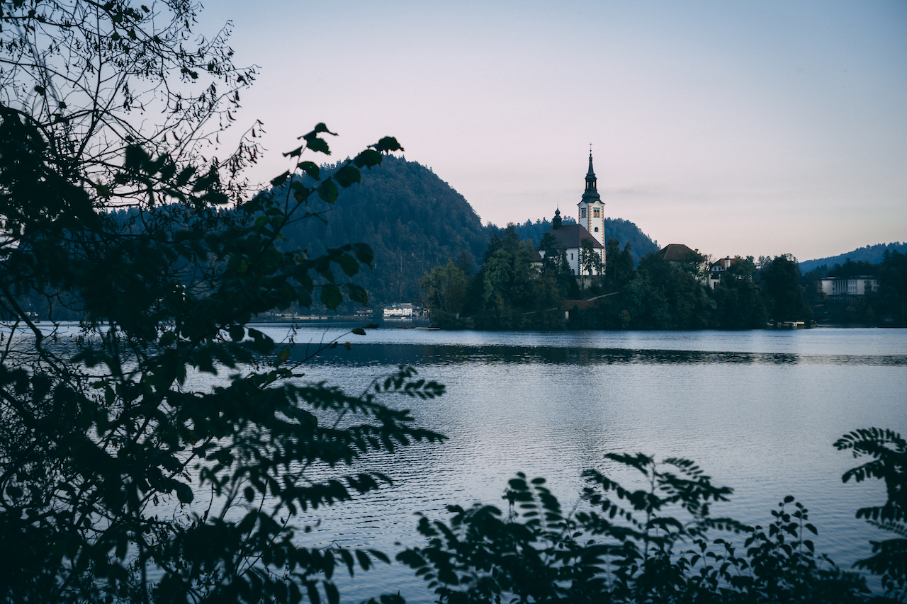 The church in the middle of Lake Bled