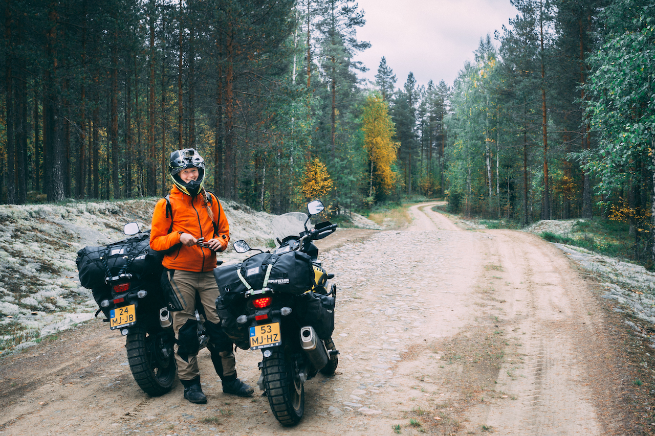 Roads in the backcountry of Finland
