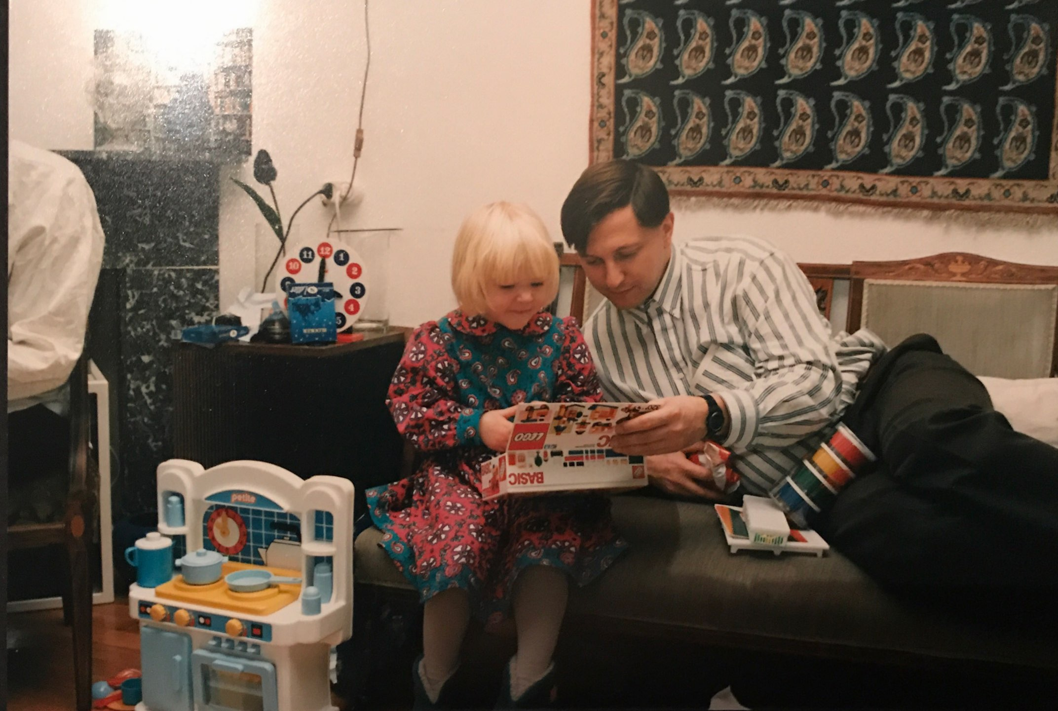 Me and my dad back in the nineties. I love my family very much and in the beginning my parents were taken aback by the news that I was going to travel the world. Now they follow me around and are incredibly supportive with all my adventures.