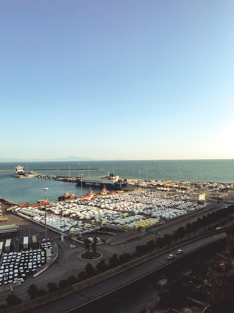 Salerno port the day before