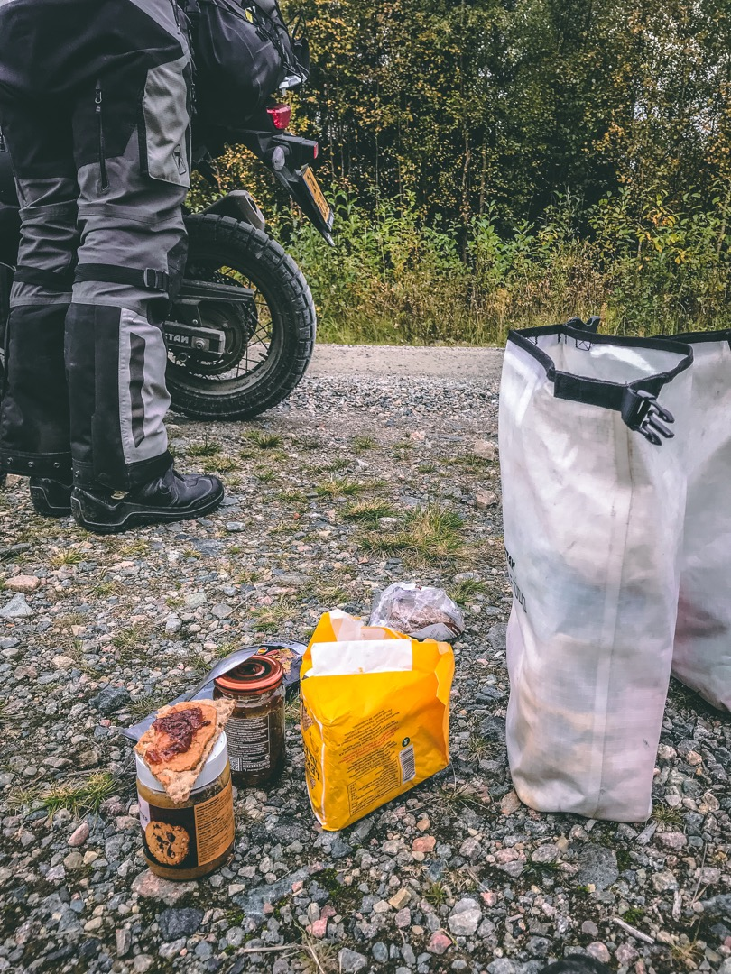 Lunch on the side of the road in Scandinavia