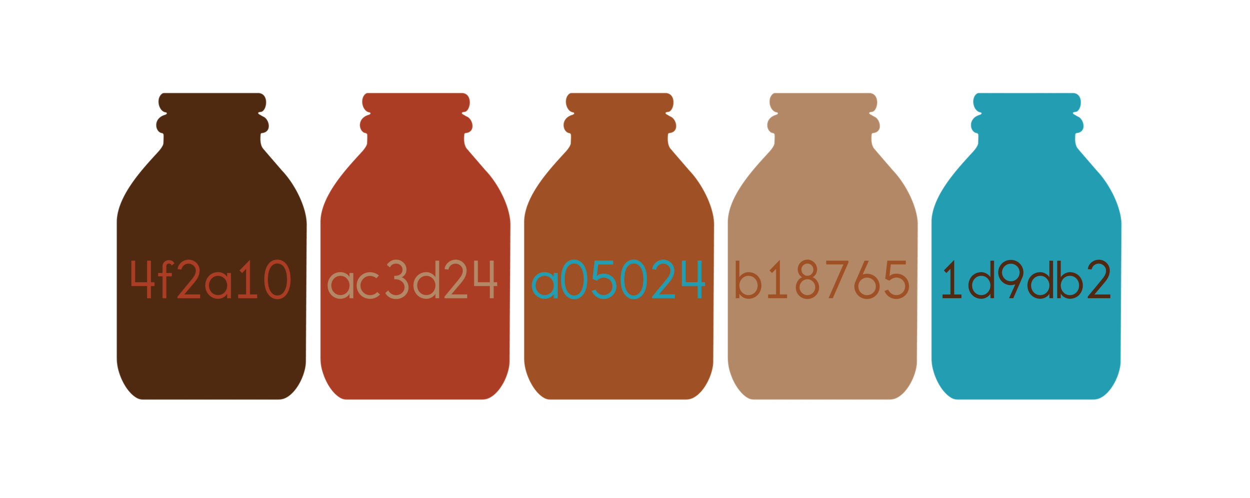 The color scheme I proposed was based on the colors of coffee and the available cap colors through the manufacturer the company was using.
