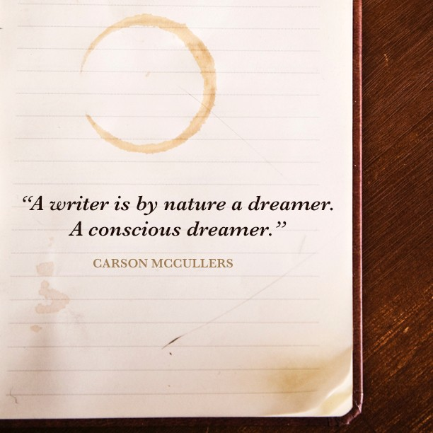 """""""A writer is by nature a dreamer. A conscious dreamer."""" Carson McCullers . . . #quoteoftheday #CarsonMcCullers #CarsonMcCullersquote #bookstagram #dreamer #consciousdreamer #bookquotes #quotesaboutwriting #Quoteaday #Quoteforlife #Quotesofday #Quotesilove #Bookthinkers #Booksandquotes #readmore #keepwriting #quoteoftheday #booklover #booksofinstagram #authorsofinstagram #Authorsofinsta"""