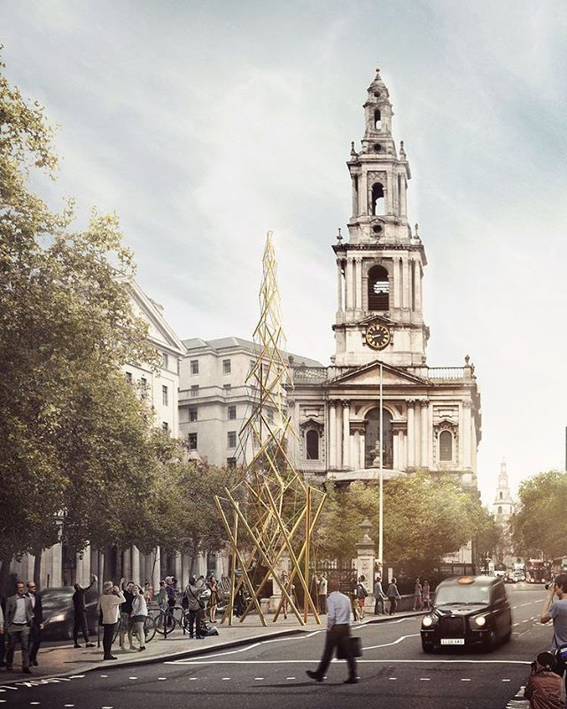 ScottWhitbyStudio are proud to announce our winning submission along side WhitbyWood @we_are_engineers for the Modern Maypole for the London festival of Architecture.  @londonfestivalofarchitecture #LFA2018  32 Golden Maypoles held together with Tensegrity. Each Maypole represents a London borough. After the Festival, the poles will be donated to schools and community organisations around the capital forming a legacy as these totemic markers themselves become new civic becons in London for years to come.  #architecture #architectsjournal #RIBA #superarchitects #scottwhitbystudio  #buildings #architecturelovers #architexture #city #design #construction #archdaily #archilovers #dezeen