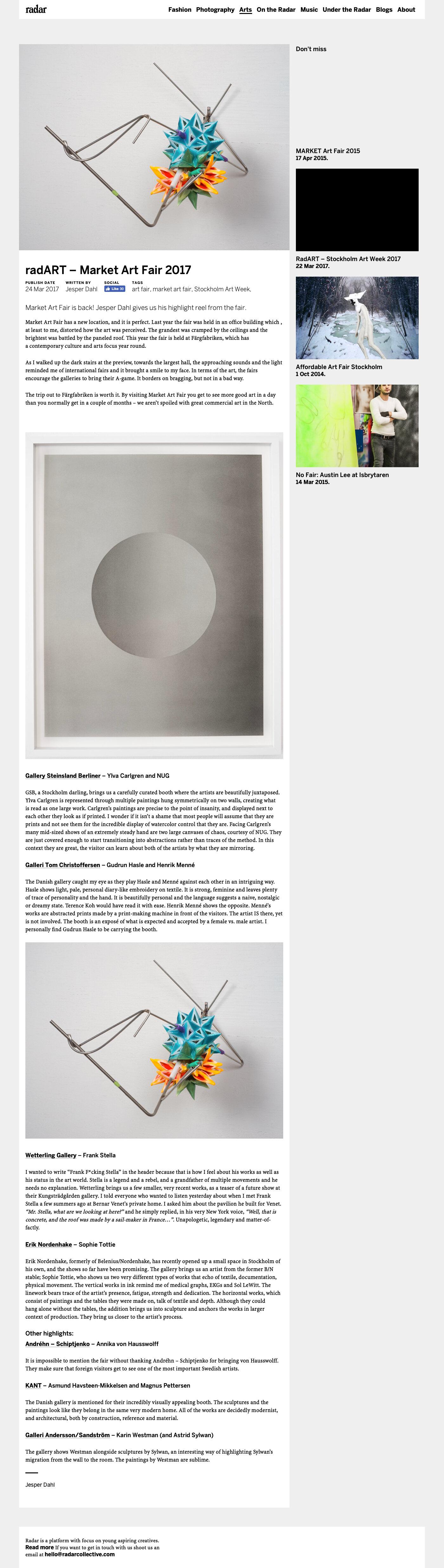 Radar Magazine -