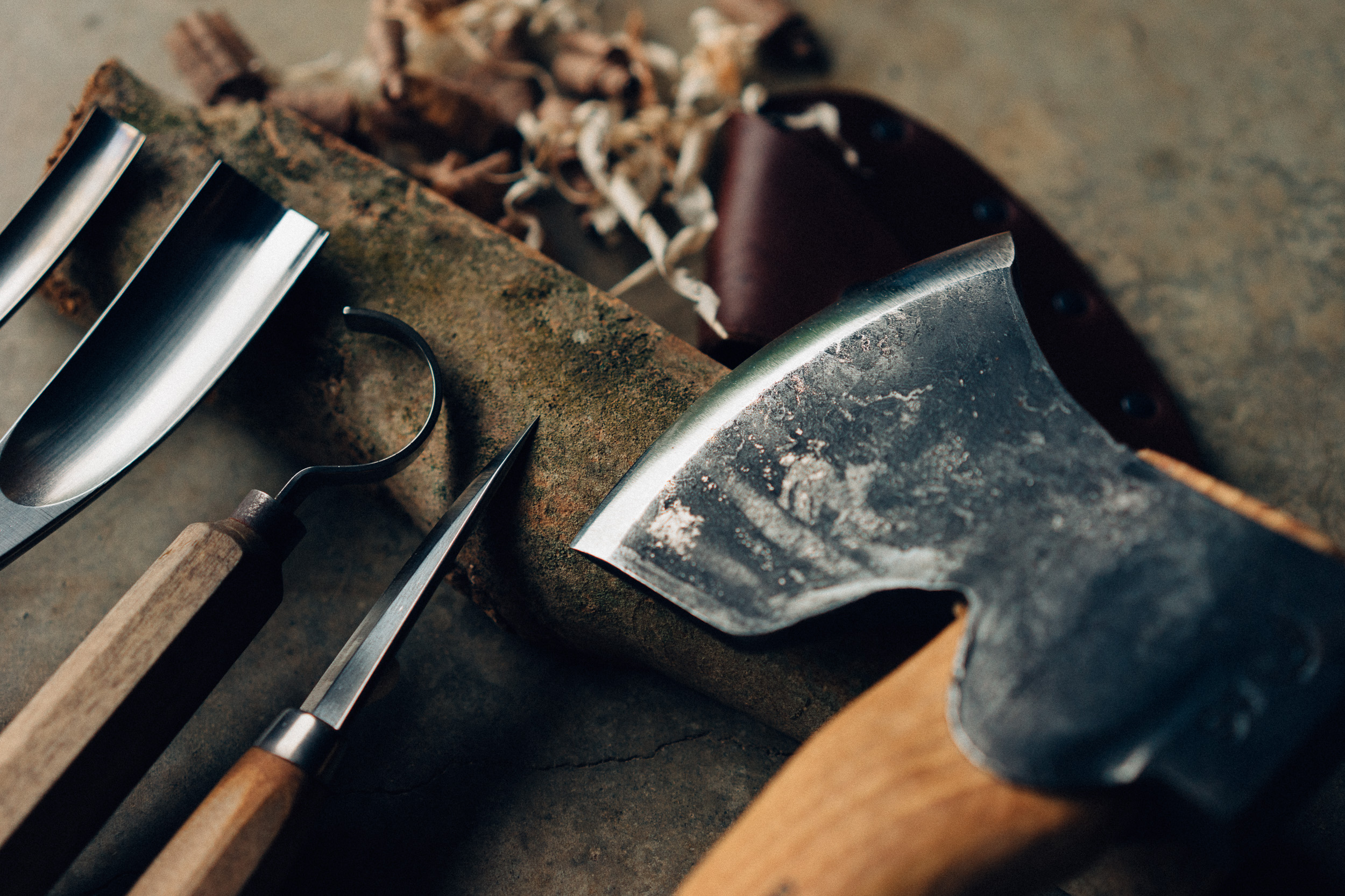 Tools of the trade. A sharp blade is everything.