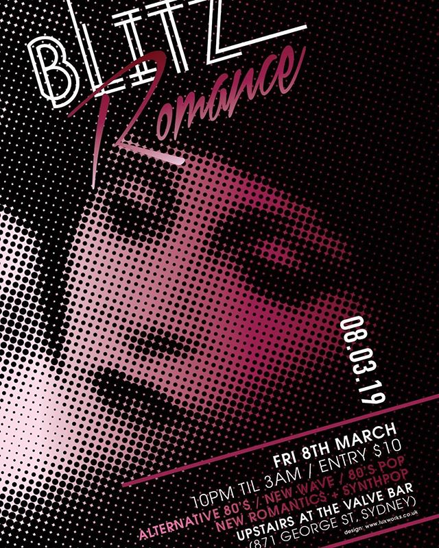 This Friday night!! I will be playing some tunes after 10pm at Blitz Romance sydney peeps! ⚡️