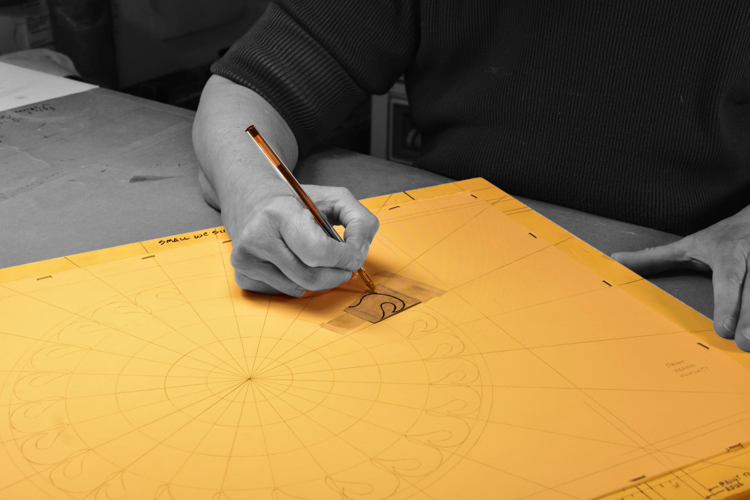 Penciling the design