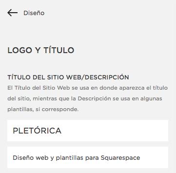 Como configurar posicionamiento SEO en Squarespace