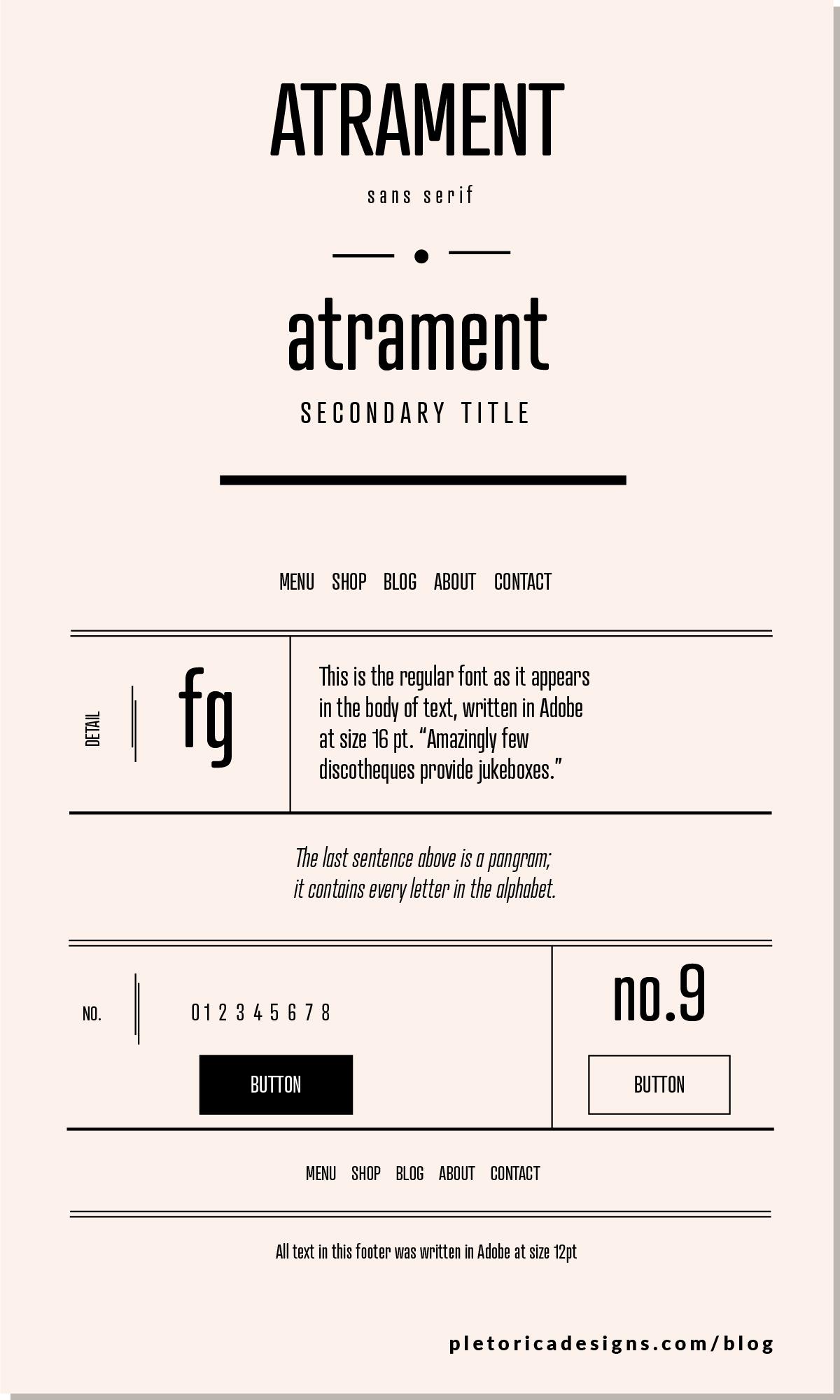 Atrament - Tipografía de PLETÓRICA DESIGNS