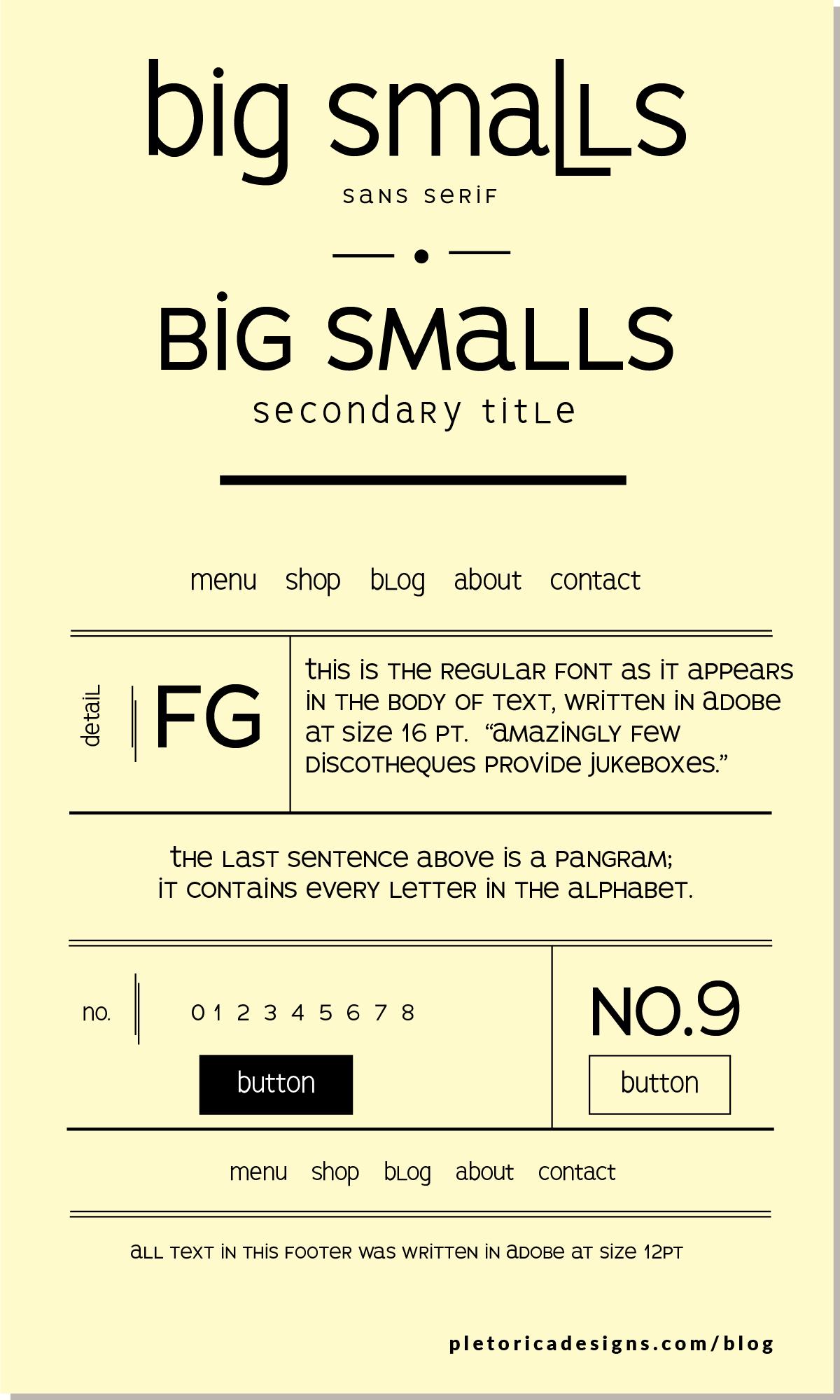 LET'S TYPE: Big Smalls — PLETÓRICA DESIGNS