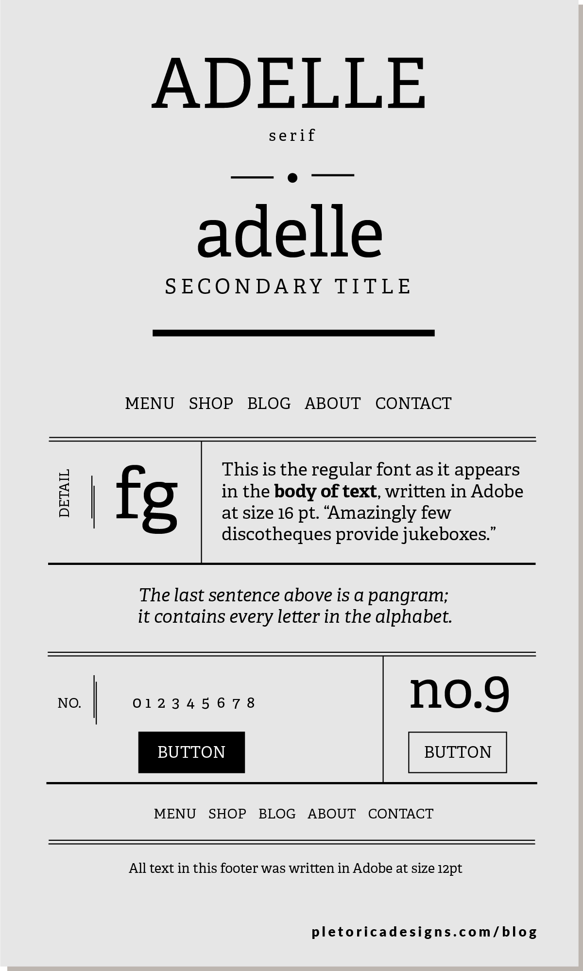 LET'S TYPE: Adelle — PLETÓRICA DESIGNS