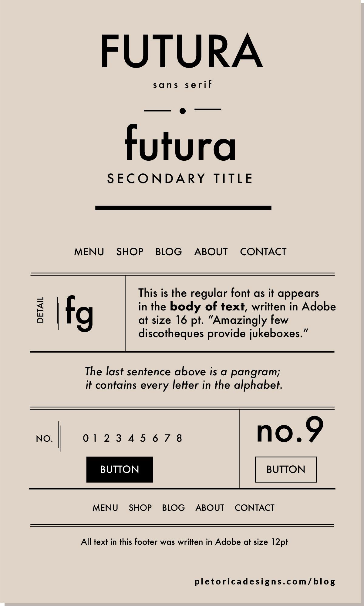 LET'S TYPE: Futura — PLETÓRICA DESIGNS