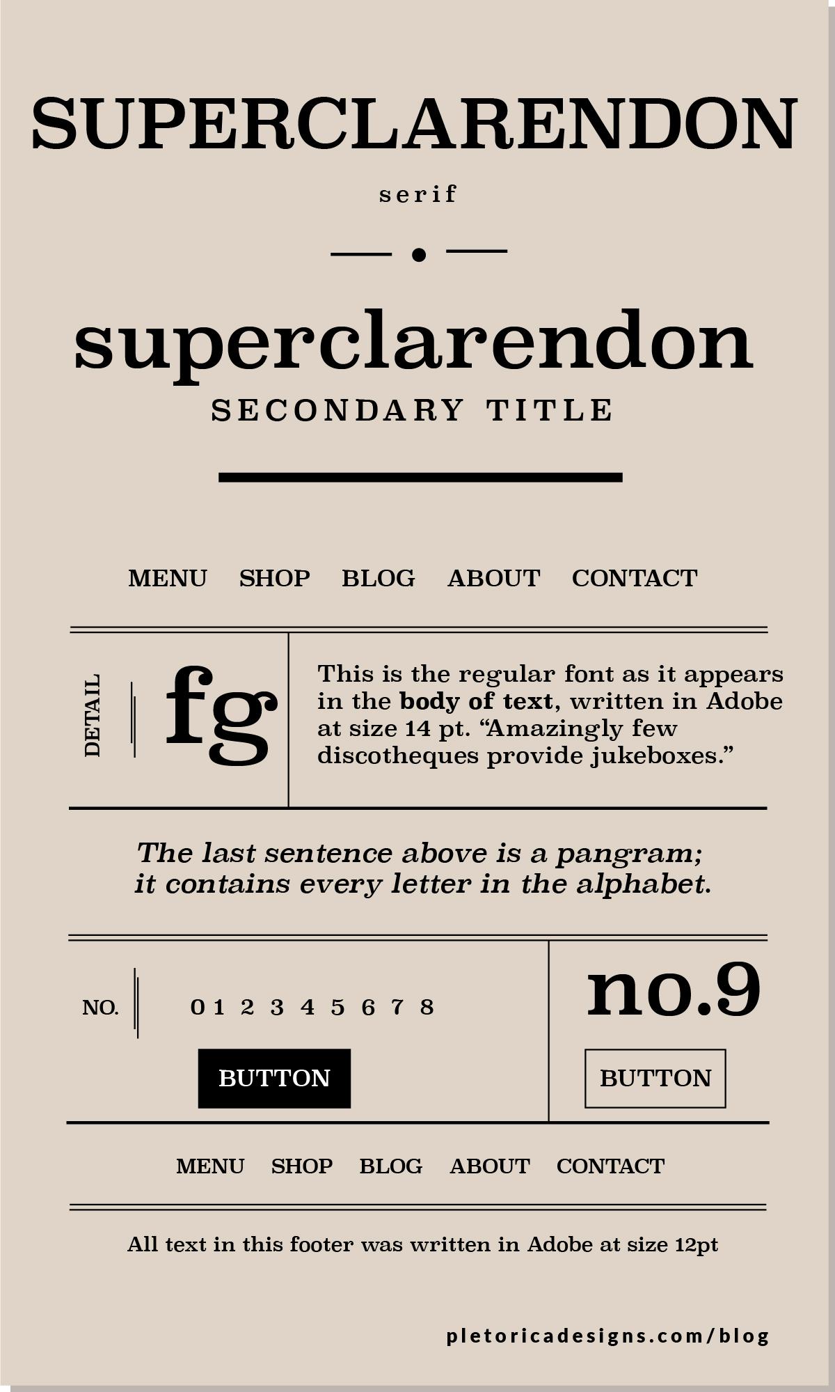 LET'S TYPE: Superclarendon — PLETÓRICA DESIGNS