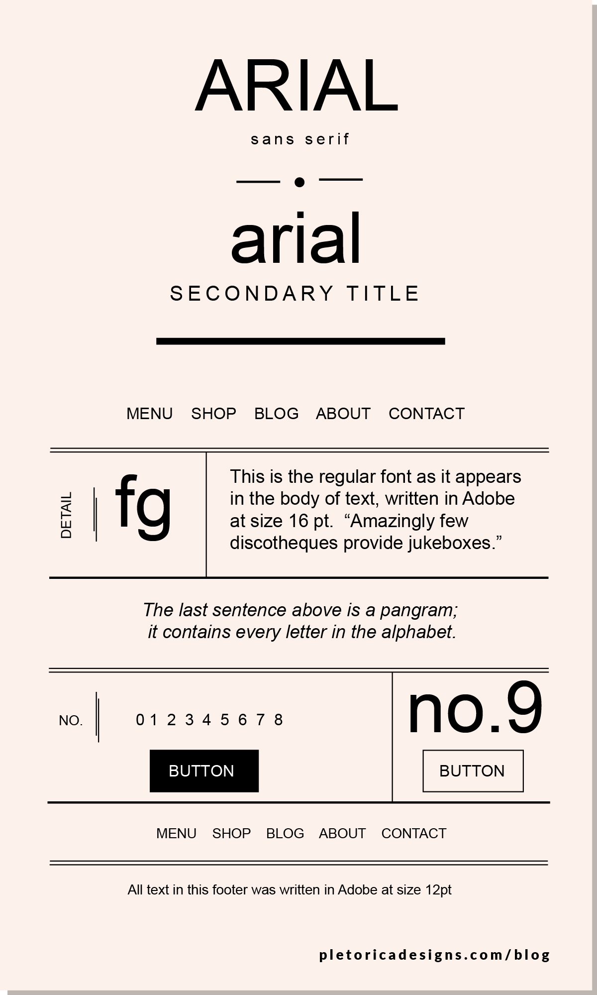 LET'S TYPE: Arial — PLETÓRICA DESIGNS