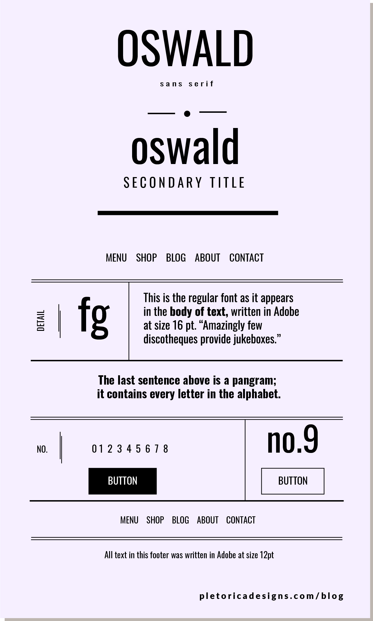 LET'S TYPE: Oswald — PLETÓRICA DESIGNS