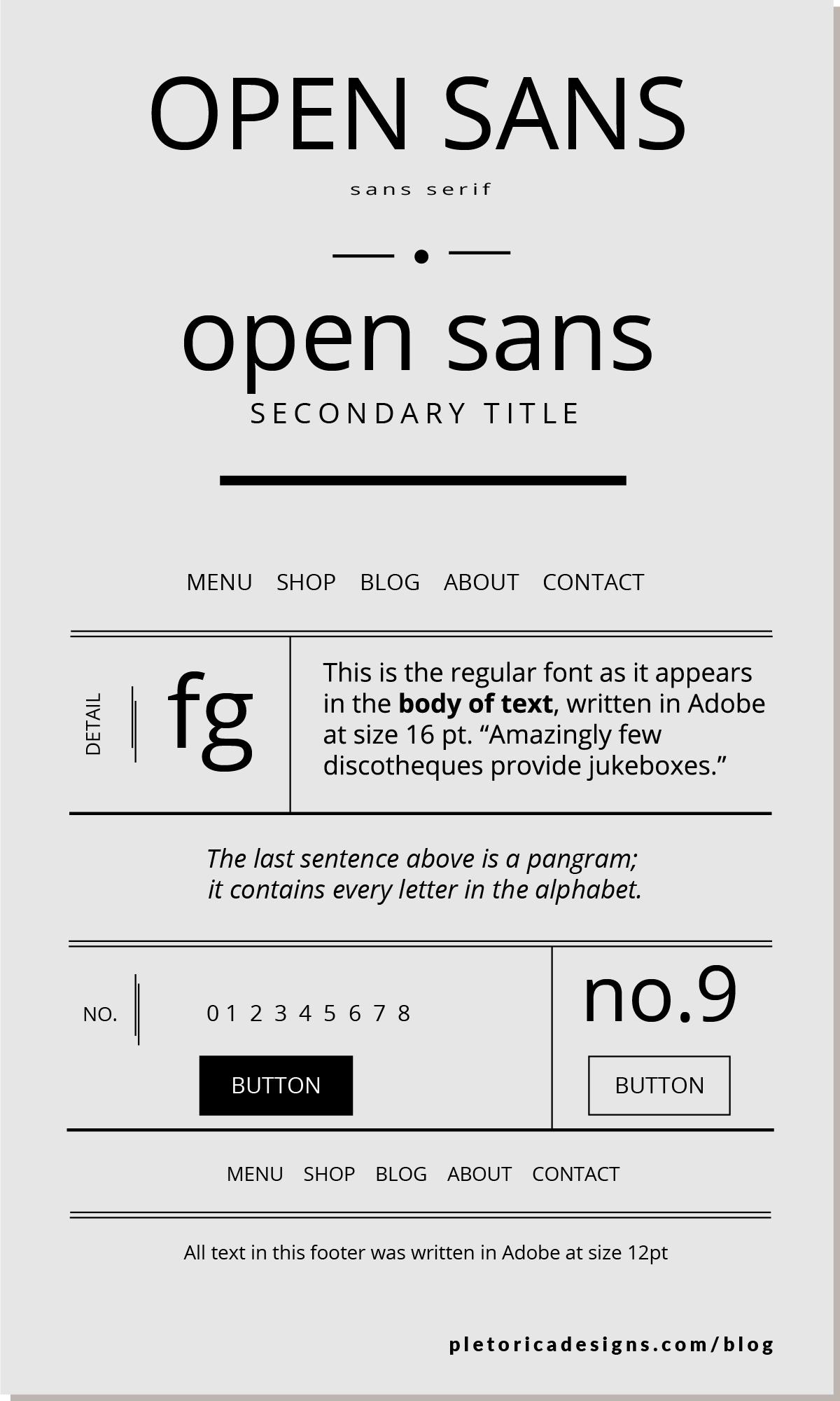 LET'S TYPE: Open Sans — PLETÓRICA DESIGNS