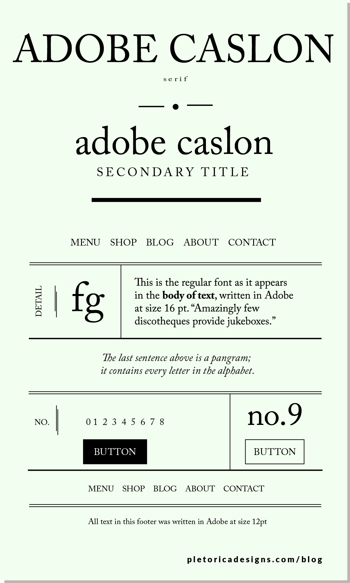 LET'S TYPE: Adobe Caslon — PLETÓRICA DESIGNS