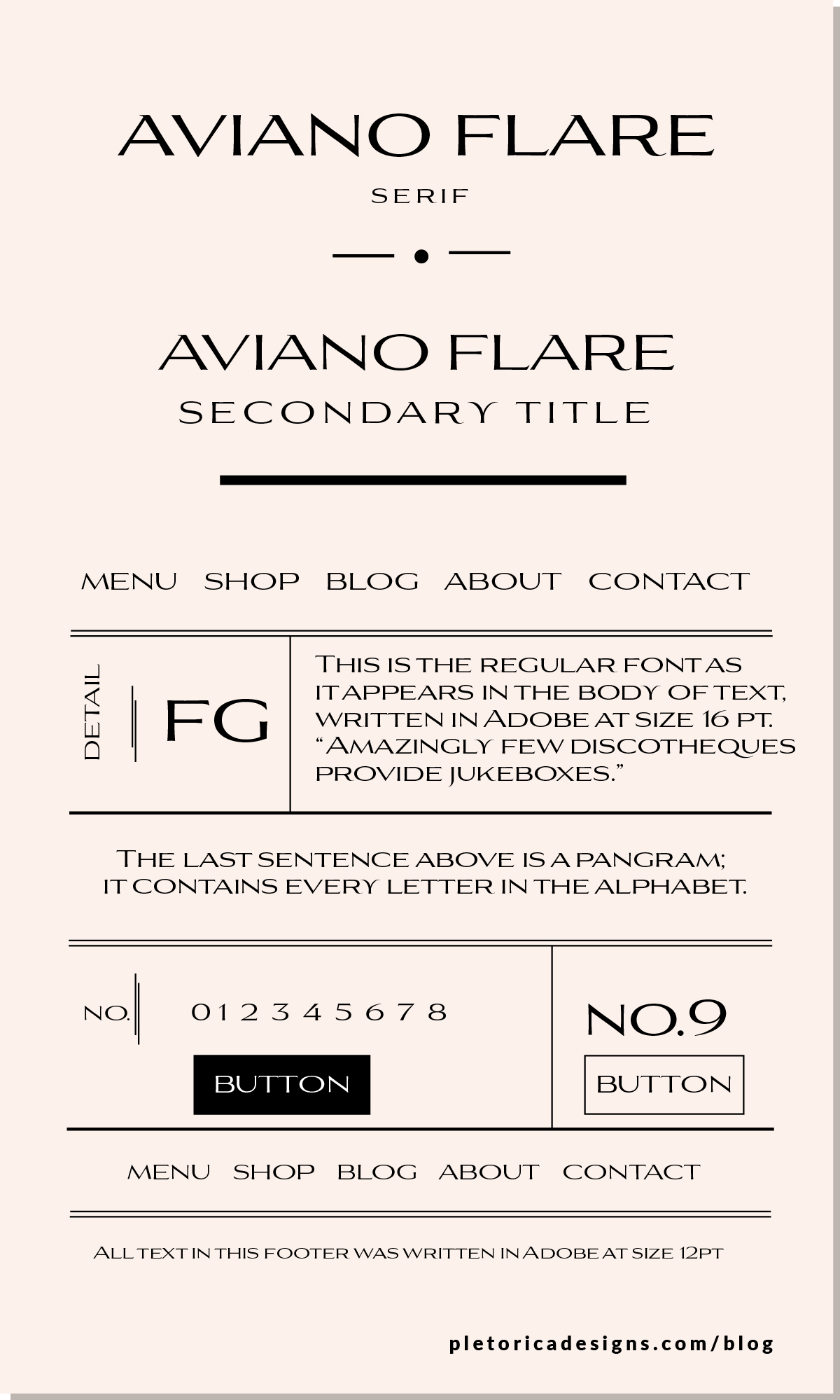 LET'S TYPE - Aviano Flare — PLETÓRICA DESIGNS