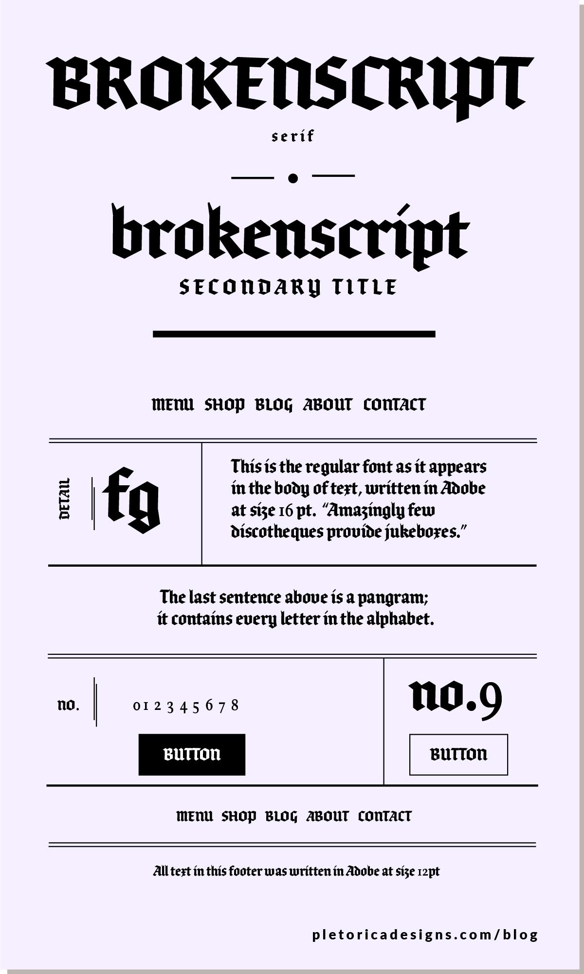 LET'S TYPE: Brokenscript — PLETÓRICA DESIGNS