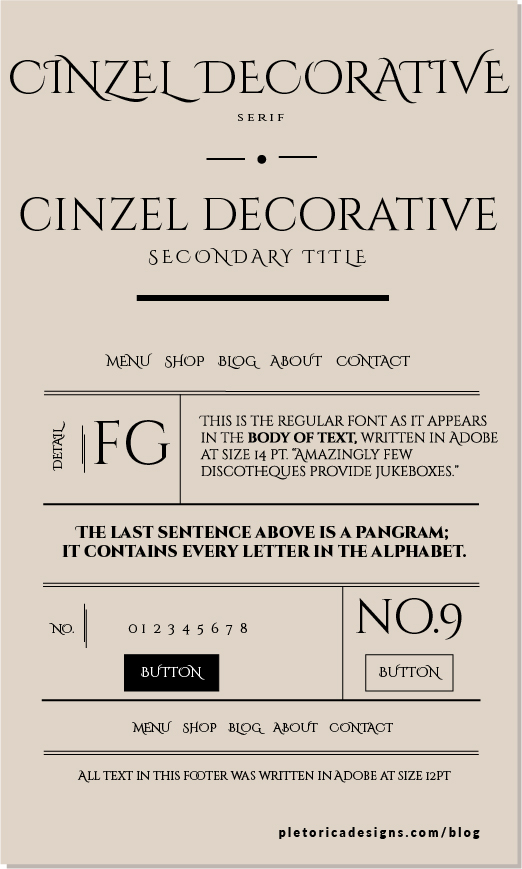 LET'S TYPE: Cinzel Decorative — PLETÓRICA DESIGNS